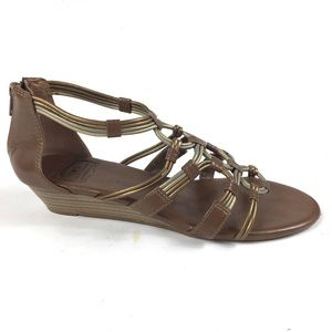 Lucky Brand Gladiator Wedge Strappy Sandals 8.5